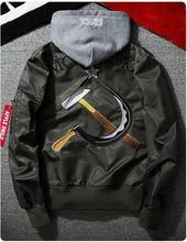 yizlo army air force one jacket men jaqueta masculina military kanye west jacket windbreaker Sickle hammer