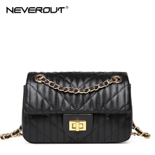 NEVEROUT Mini Handbags Shoulder Sac Ladies Crossbody Bag Solid Thread Style Soft Leather Messenger Bags Women Small Flap