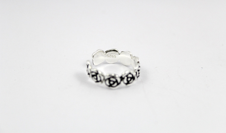 Roses on Band for 925 Sterling Silver Toe Rings