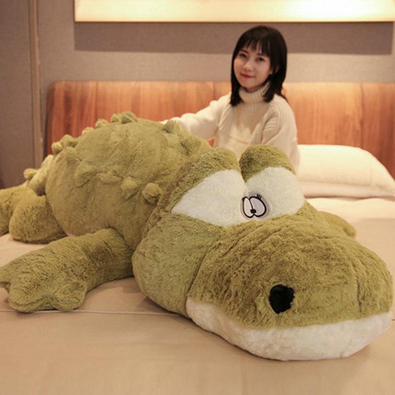 150cm Plush Crocodile Stuffed Toy Animals Pillow Kids Huggable Nap Pillow Companion Crocodile Toy