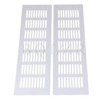 2 Pieces Air Vent Ventilation Heating Cover Bridge Shape Plate BQLZR Silver