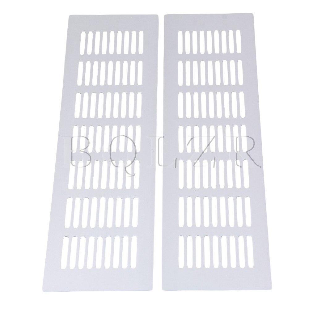 BQLZR Silver 2 Pieces Air Vent Ventilation Heating Cover Bridge Shape Plate BQLZR Silver 2 Pieces Air Vent Ventilation Heating Cover Bridge Shape Plate