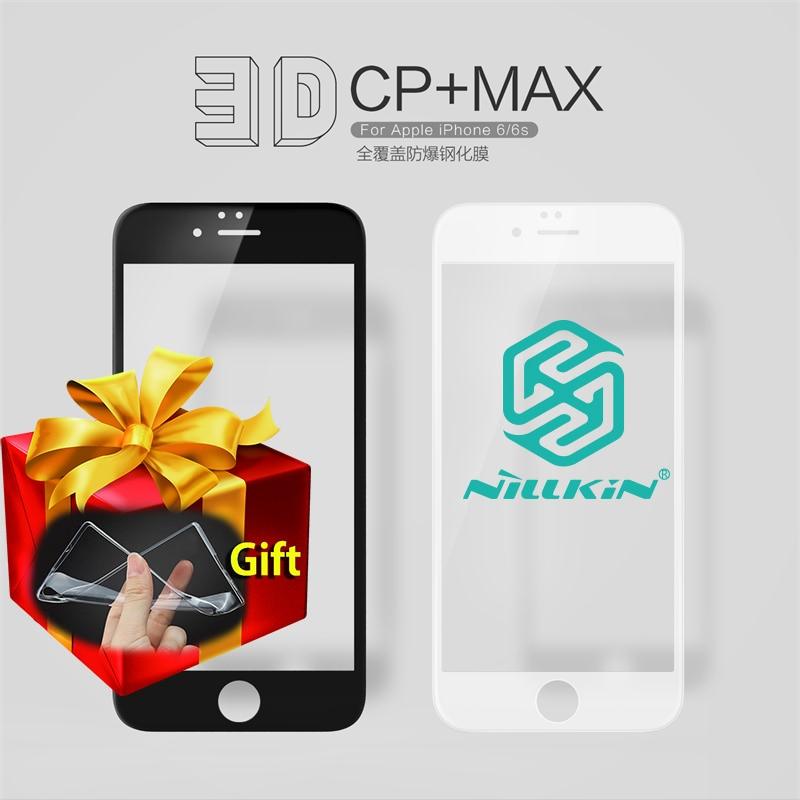 Цена за Nillkin CP + Макс 0.3 мм 9 H 3D Полное Покрытие Из Закаленного Стекла Для iphone 6/6 s Протектор Экрана для iPhone6S iPhone6 Подарок Мягкие Случаи TPU