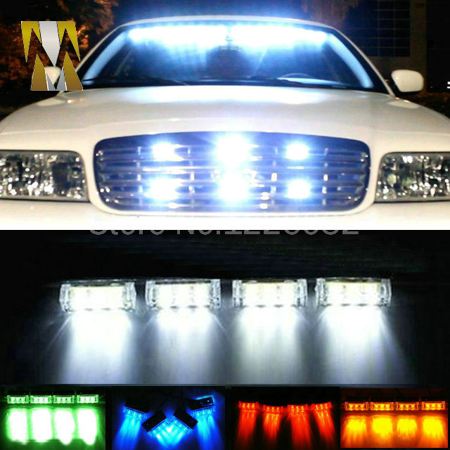 4x3 led LED Car motorcycle flash light Strobe Flash Warning EMS Police Truck Light Flashing Firemen Lights DC 12V стоимость