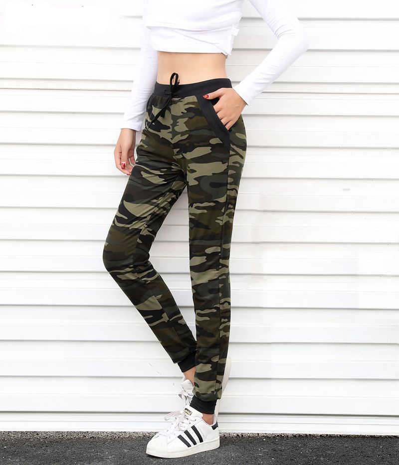 ff4a258a948ef Camouflage Joggers Women Sweatpants Harem Camo Pants Drawstring Pantalones  femme Mujer Loose Calca Female High Waist