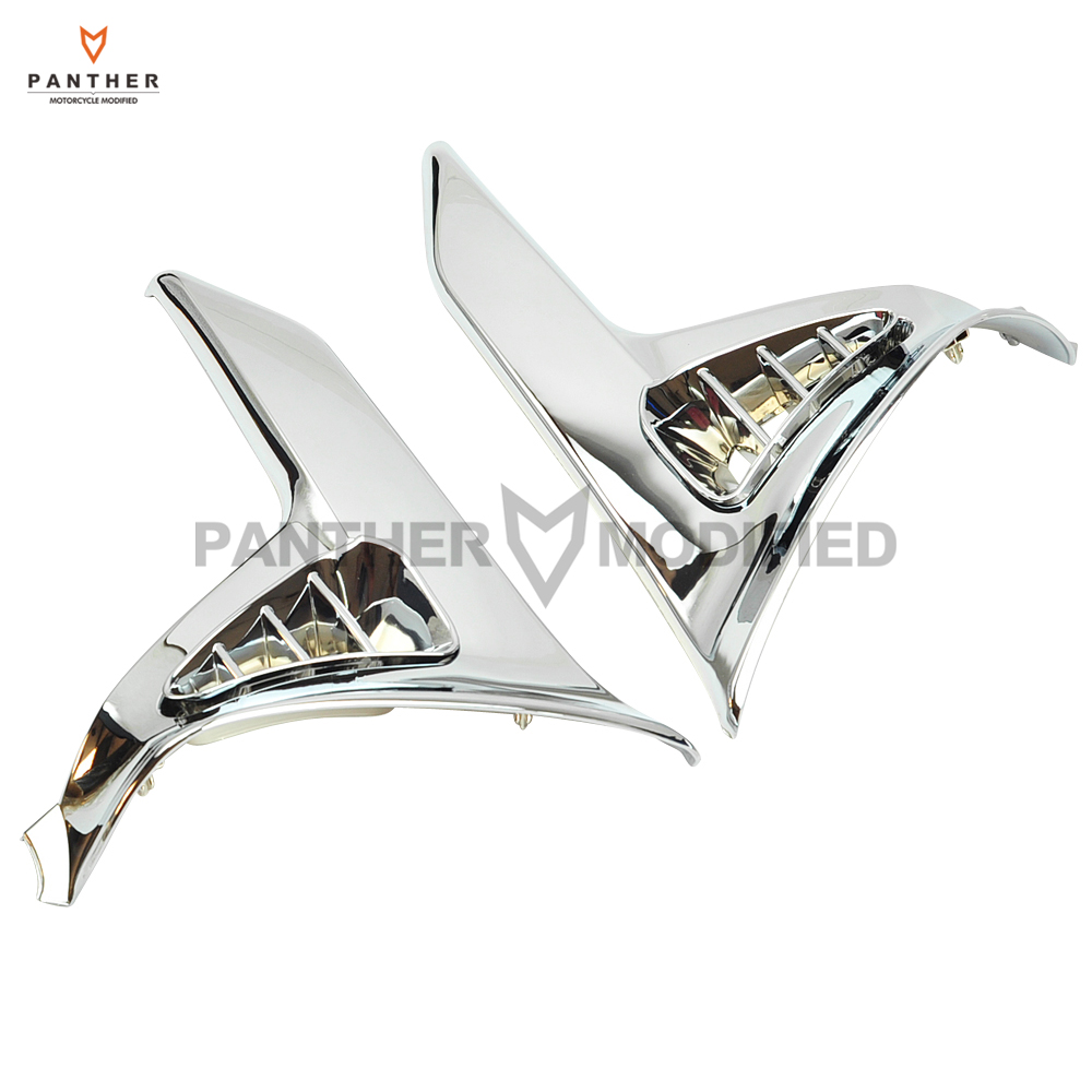 1Pair Chrome Motorcycle Saddlebag Decoration Scuff Cover case for Honda Goldwing GL1800 2001-2011 2005 2006 2007 2008 2009 2010 aftermarket free shipping motorcycle parts eliminator tidy tail for 2006 2007 2008 fz6 fazer 2007 2008b lack