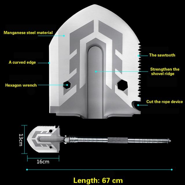 Outdoor multi-purpose shovel garde