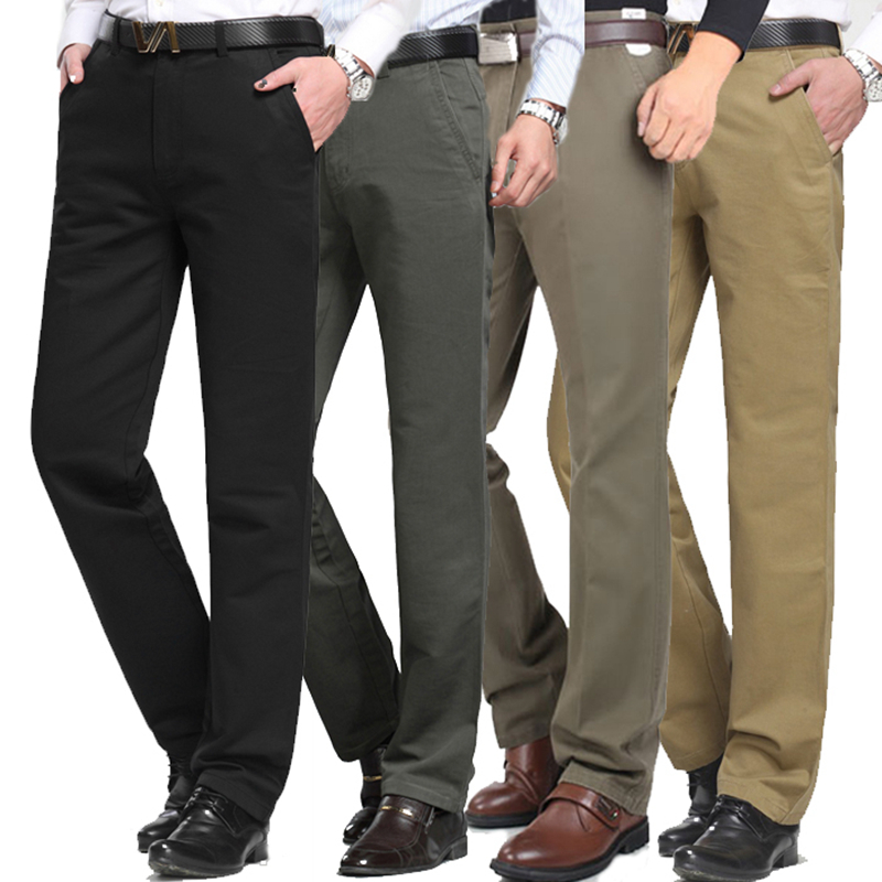 Pants Trousers Office-Suit Business Formal Work-Wear Wedding-Party Hombre-De-Trabajo