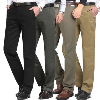 Middle-aged Man Work Wear Office Suit Pants Men Wedding Party Business Formal Trousers Pantalones Hombre De Trabajo for father