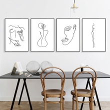 Wall Poster Picture Abstract Body Art Canvas Painting Nordic Minimalist Bedroom Home Decor Unframed