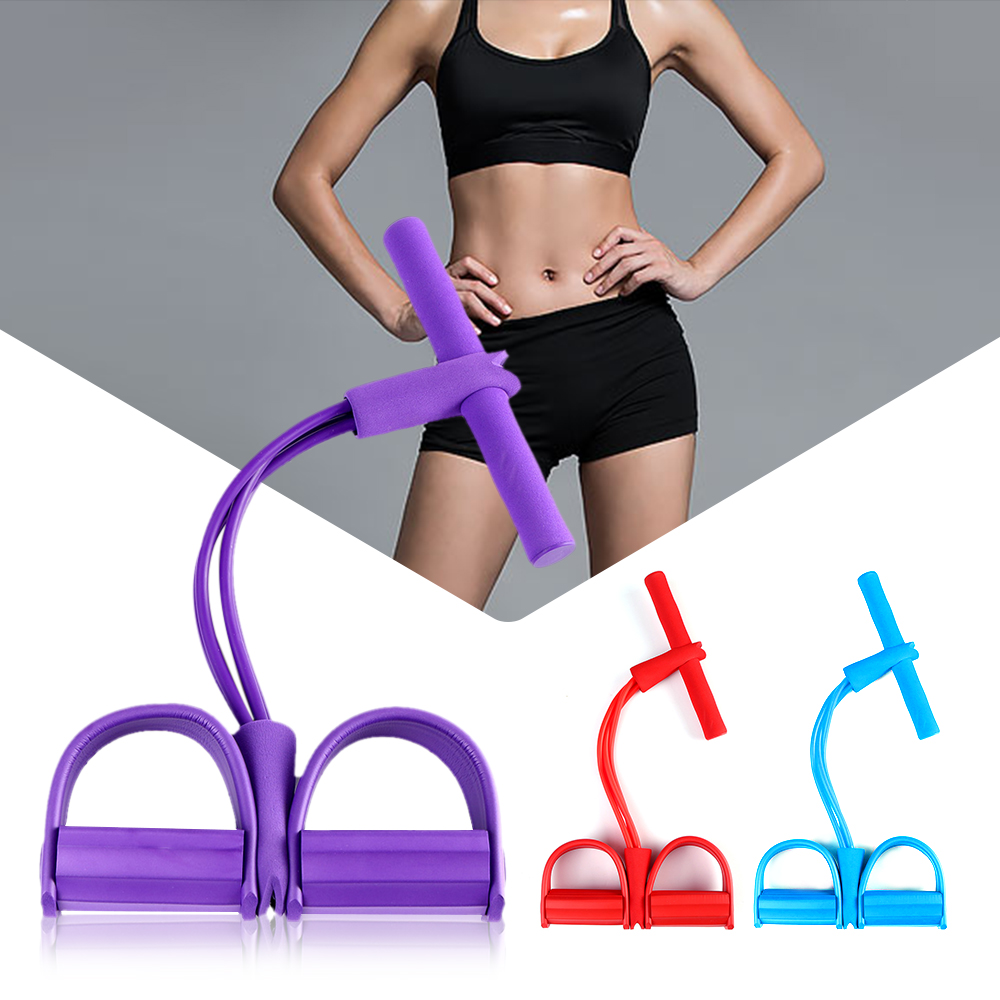 <font><b>4</b></font> <font><b>Tube</b></font> Resistance Bands Latex Pedal Exerciser Sit-up Pull <font><b>Rope</b></font> Expander Elastic Bands Yoga equipment <font><b>Fitness</b></font> Gum Workout image