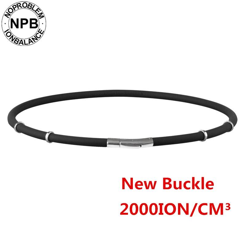 Noproblem Germanium Necklace Tourmaline Balance-Therapy Silicone Health-Neck 058black