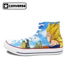Women Men Shoes Converse Chuck Taylor Dragon Ball Son Goku Super Saiyan Custom Design Hand Painted