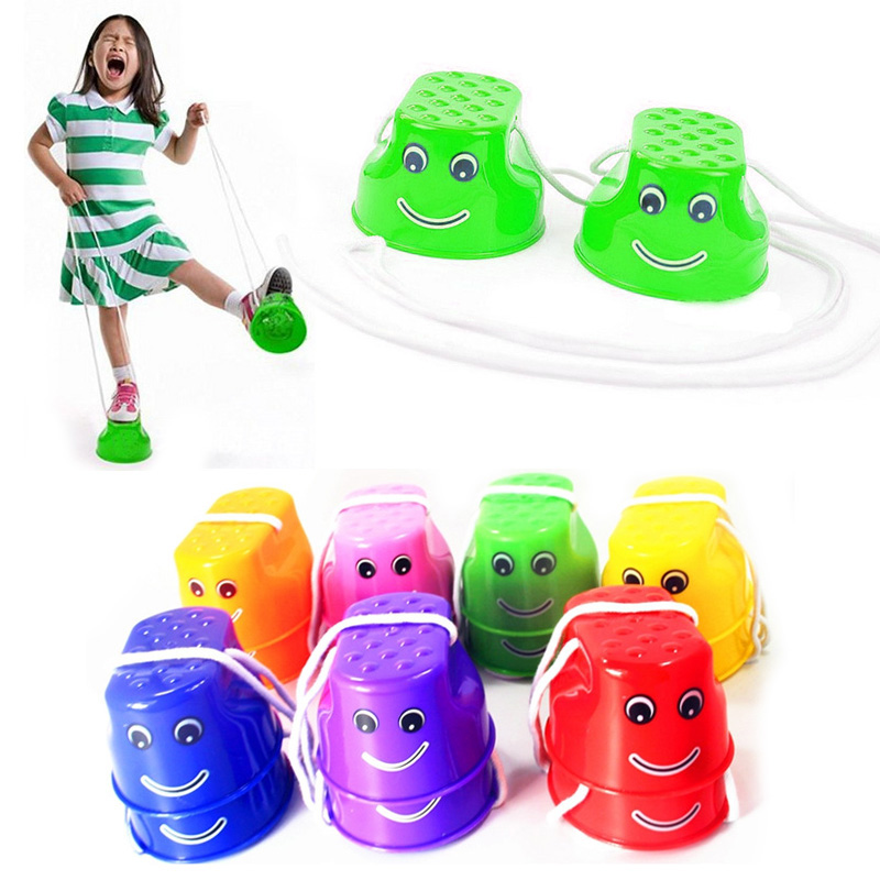 7 Outdoor Sports Boy Toys : Pair children outdoor plastic balance training smile