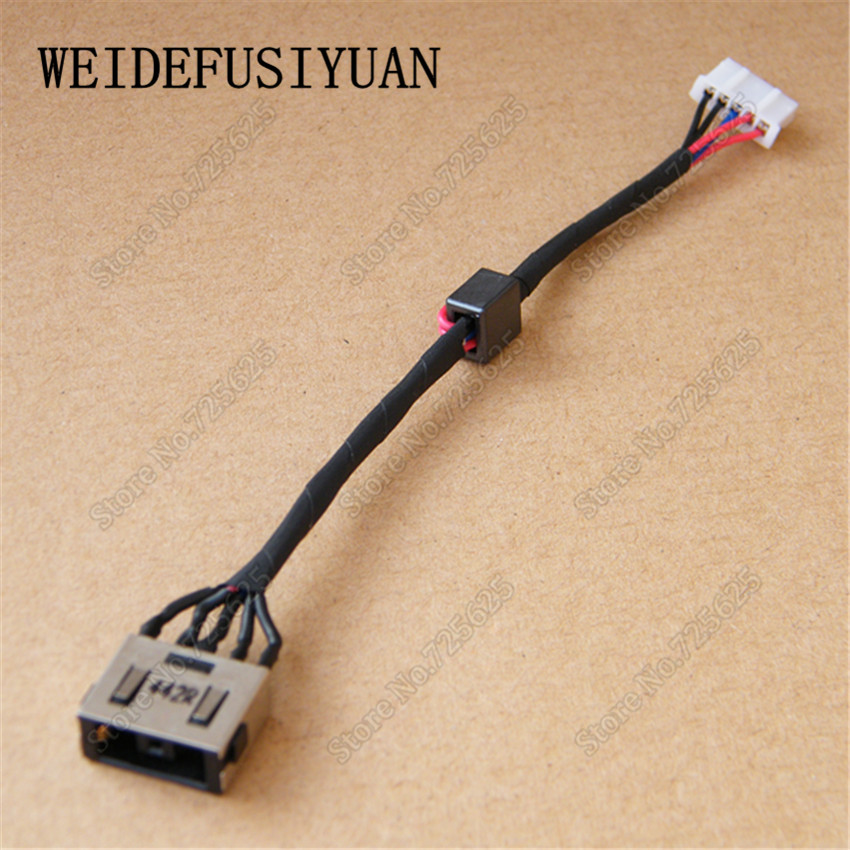 10pcs/lot New DC Power Jack Connector with Cable Socket for Lenovo Z410 Z510 Z710 10pcs lot micro usb connector jack