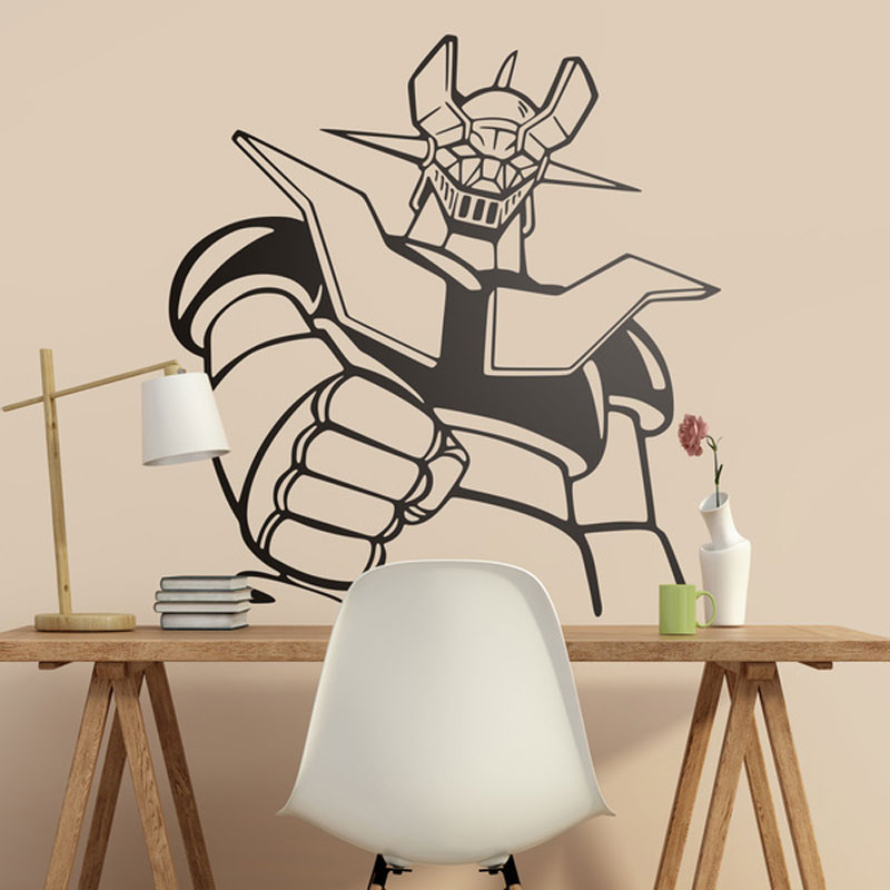 Wall Sticker Mazinger Z. Classic Cartoon For Lovers Of The Series Of The 80s. Cool Giant Robot Wall Decal Vinyl Sticker A425