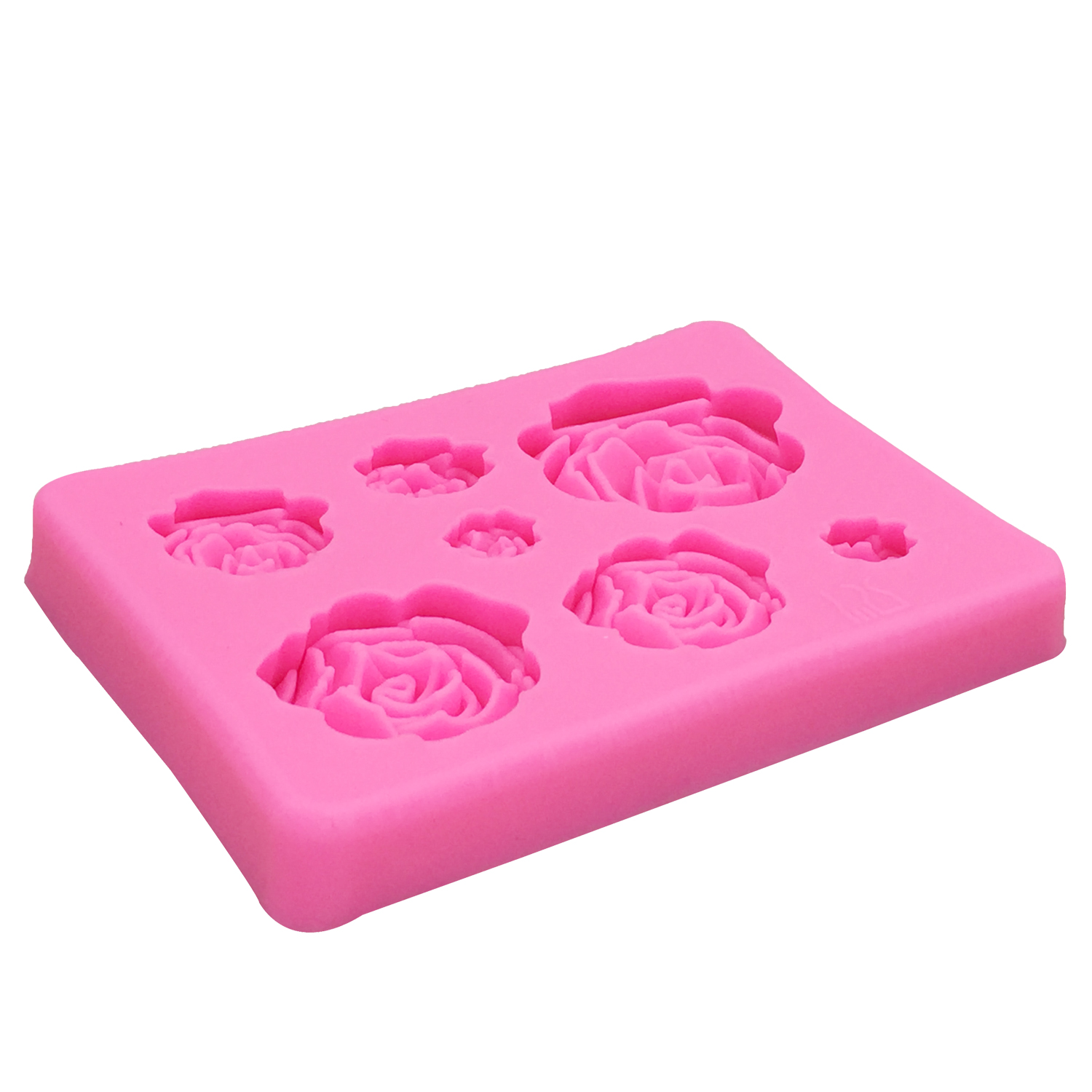 Rose Flowers Silicone Fondant Mold 2