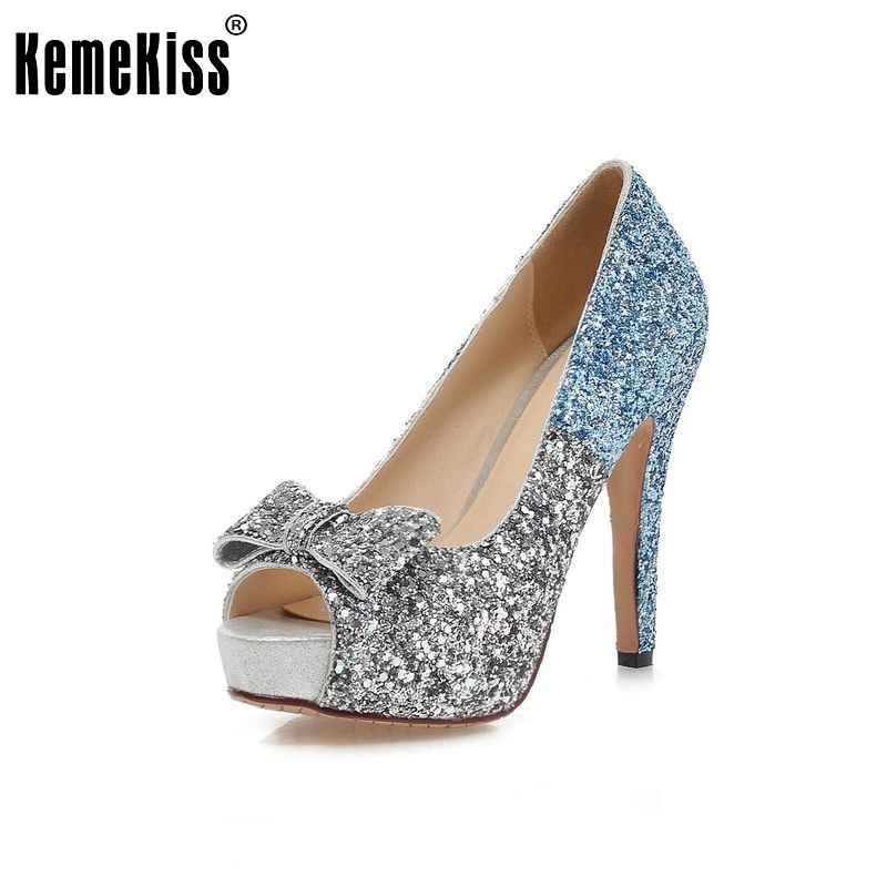 women stiletto high heel shoes platform sexy peep toe brand quality footwear fashion heeled pumps heels shoes size 34-43 P17610 made to order red sequin women shoes peep toe 2015 shoes women thick heel shoes for women sexy pumps shoes for high heeled