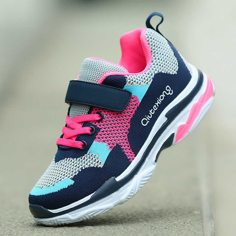 c00b10d4d023 2018 Новый стиль обувь для девочек детские кроссовки для мальчиков кроссовки  легкие Детская уличная спортивная обувь