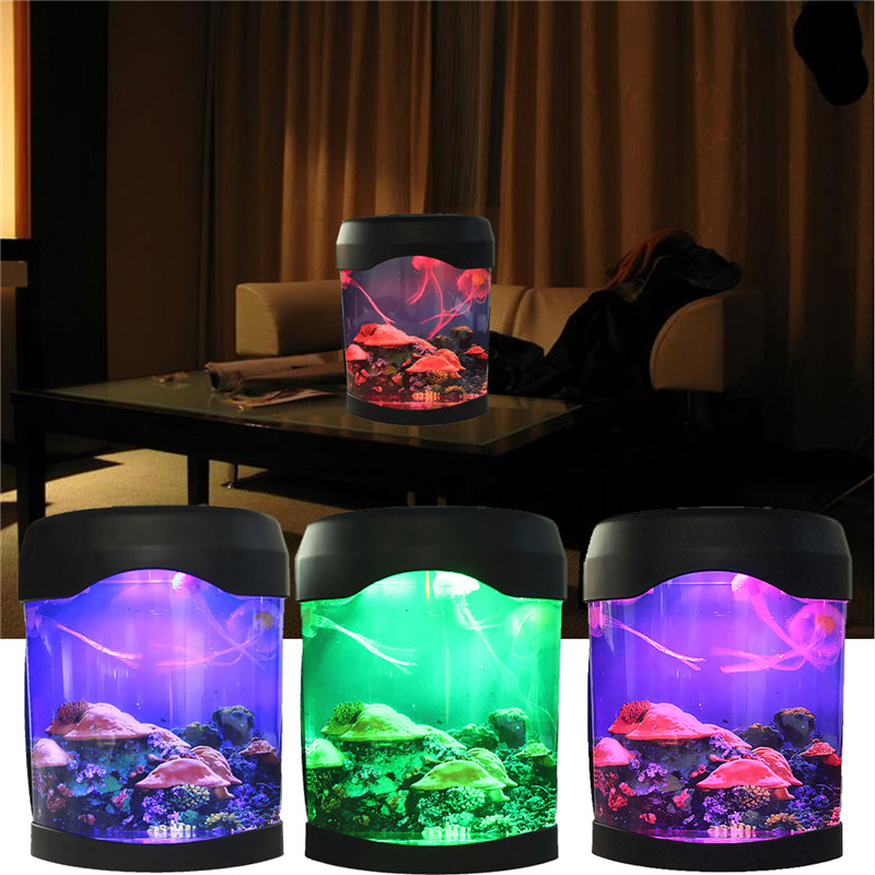 Bedroom Colors Pictures Mood Lighting Bedroom Classic Bedroom Ceiling Design Bedroom Ideas Hgtv: Colorful LED Jellyfish Swimming Tank Sea World Mood Lamp