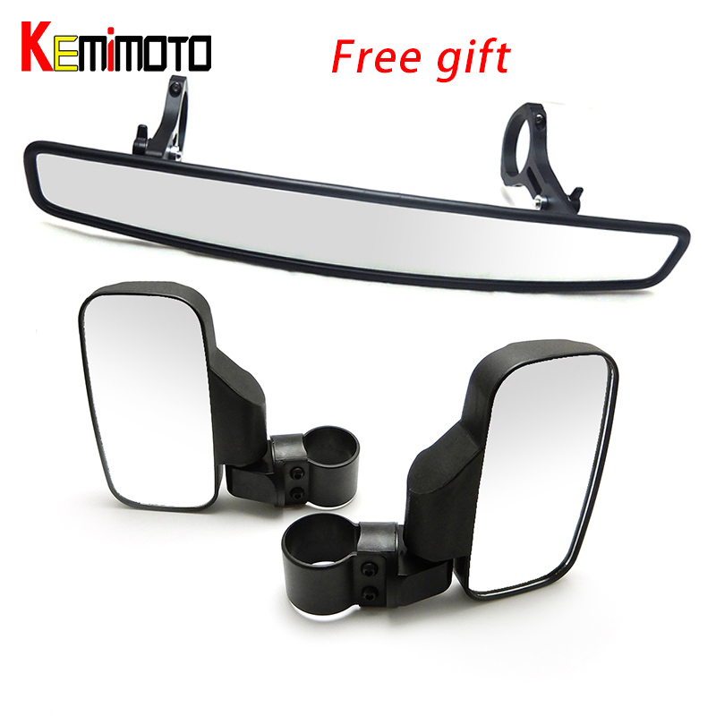 UTV Side Mirrors Rearview mirror 1 75 2 Clamp for Can Am Commander Maverick 800 1000