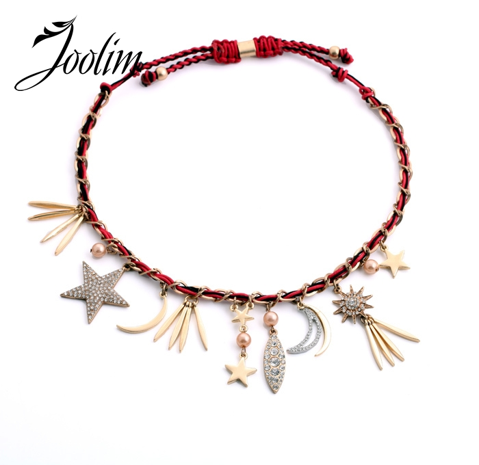 JOOLIM Cute Star Moon Choker Necklace Sweater Necklace Party Jewelry Accessories Charm Jewelry Design Jewelry