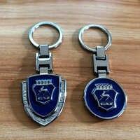9cm métal bleu style bouclier porte-clés sculpté GAZ LOGO mode porte-clés meilleur cadeau llaveros moulé sous pression voiture Volga GAZ accessoires de voiture