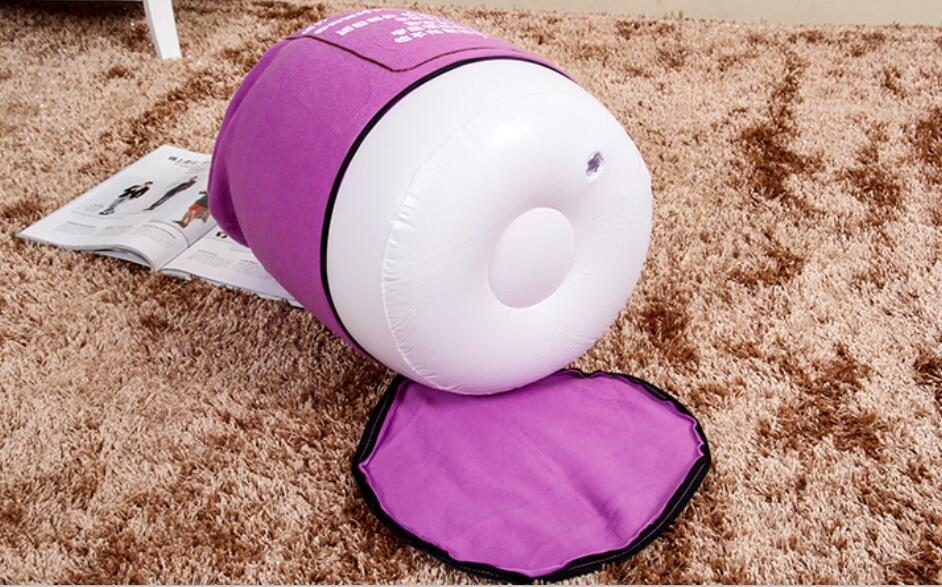 купить 35cm x 35cm flocking pvc inflatable footstool , home furniture foot rest cushion