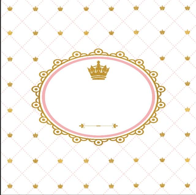 8x8ft Gold Diamonds Crown Arrow Baby Shower Custom Photo