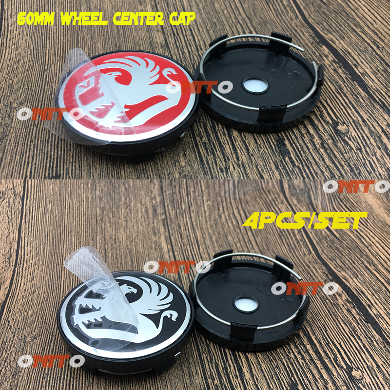 HOT Sale car Decoration 4X 56mm 2.2 VAUXHALL Emblem Sticker Label Accessorie 60mm 2.36Wheel Center Cap ABS Covers Car Styling