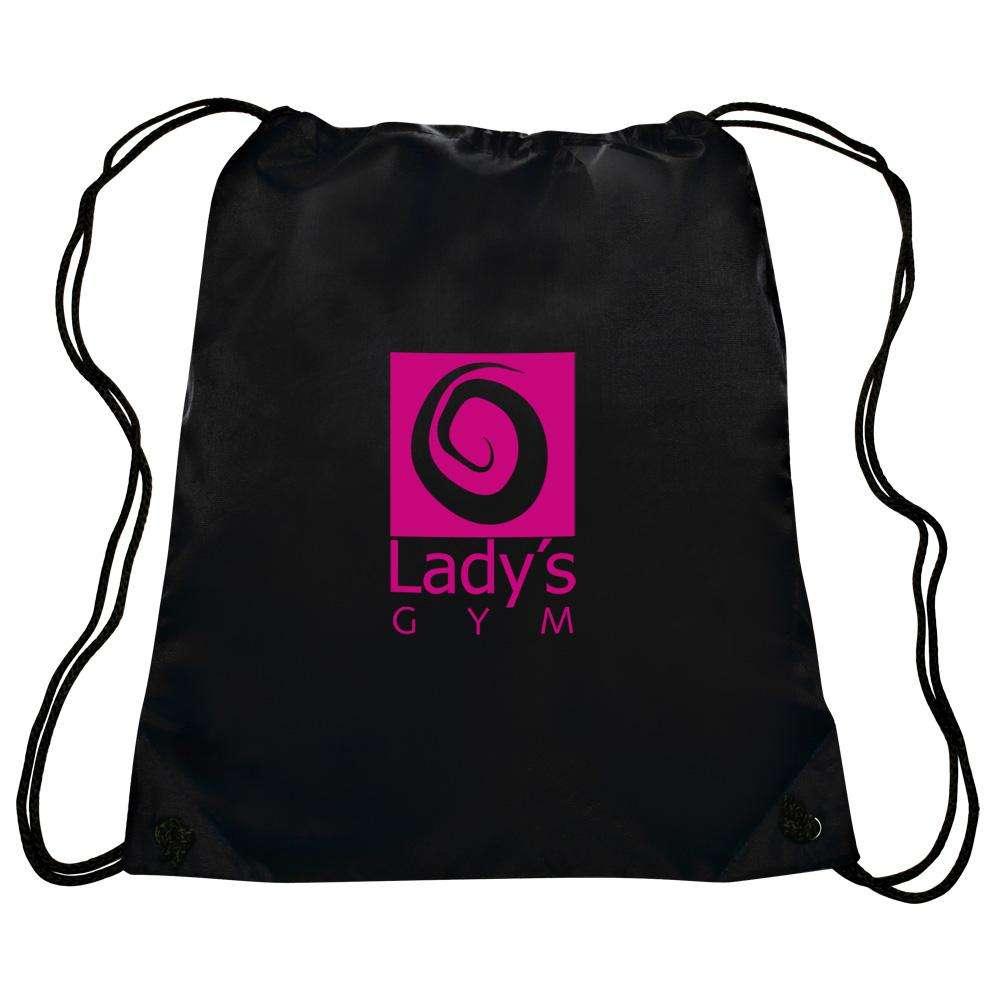 YOUQU Custom Printing Polyester Drawstring Bag Draw String Bag With Custom Logo