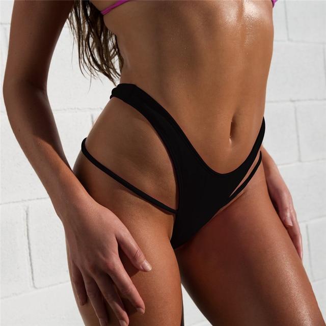 b904a4b97fb 2019 Sexy Women Bikini Bottom Swimwear Swim Shorts Swimsuit Female Beach  wear brazilian Bathing Suits Briefs High Cut Thong