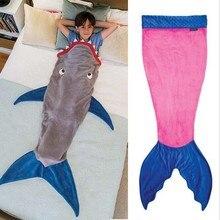 Трюм девушки/мальчики типи акула русалка одеяло комбинезоны спальный горячая анти животных