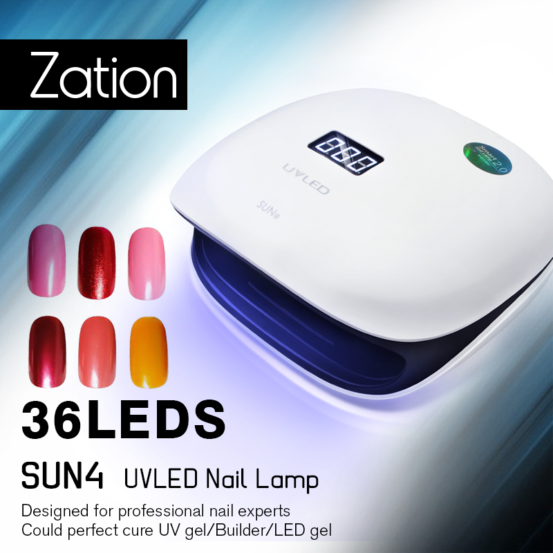 Zation 48W Nail Drying Machine All for Manicure and Nail Design Automatic Sensor Bottom Timer for Curing UV Gel Nail Polish