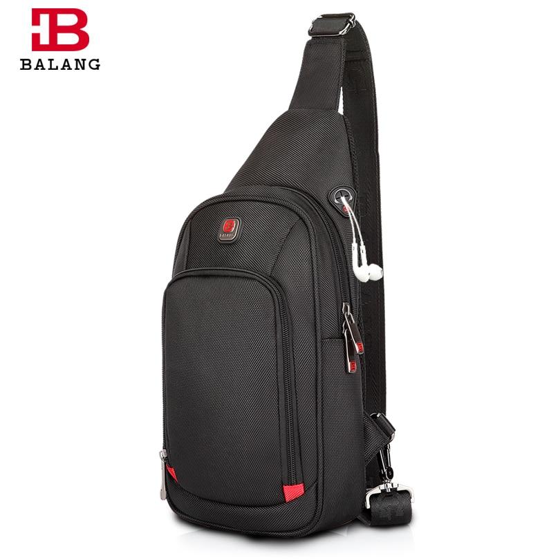 BALANG Crossbody Bags for Men Messenger Chest Bag Pack Casual Bag Waterproof Nylon Single Shoulder Strap Pack 2019 New Fashion doctor bag