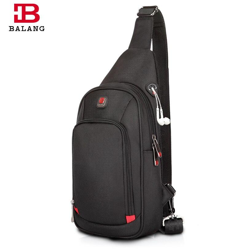 BALANG Borse Crossbody per Gli Uomini Messenger Bag Petto Pack Borsa Casual In Nylon Impermeabile Singola Cinghia di Spalla Pack 2017 di Nuovo Modo