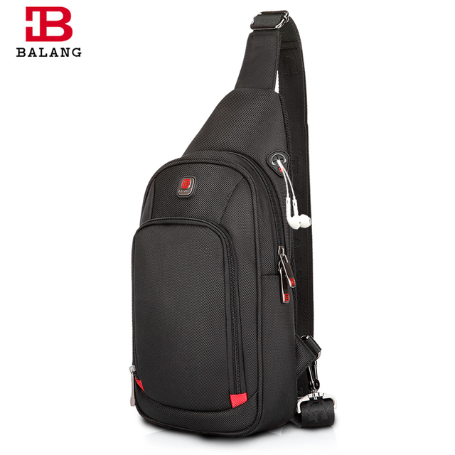 6cb9e9556 BALANG Crossbody Bags For Men Messenger Chest Bag Pack Casual Bag  Waterproof Nylon Single Shoulder Strap