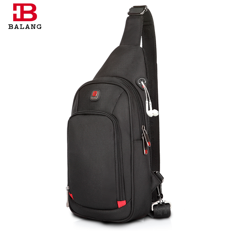 BALANG Crossbody Bags for Men Messenger Chest Bag Pack Casual Bag Waterproof Nylon Single Shoulder Strap Pack 2017 New Fashion