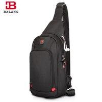 BALANG Crossbody Bags For Men Messenger Chest Bag Pack Casual Bag Waterproof Nylon Single Shoulder Strap
