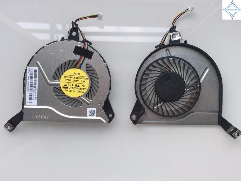Original New For HP 14-P 15-P 16-P 17-P 14-V 15-V 16-V DFS200405040T FFDF 767776-001 773449-001 Laptop Cpu Cooling Fan