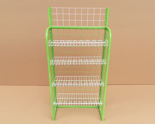 Bread shelf display shelf. Drink snack aisle. Supermarket shelves. Mask rack shelf