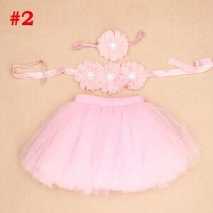 Новая юбка-пачка для маленькой принцессы с повязкой на голову с цветами и бюстгальтером, топ-пачка для маленькой девочки, костюм для фотосес...