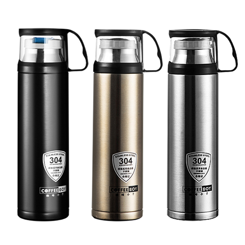 Portable 500ML thermos bottle vacuum flask for tea 304 stainless steel thermo mug thermoses thermocup