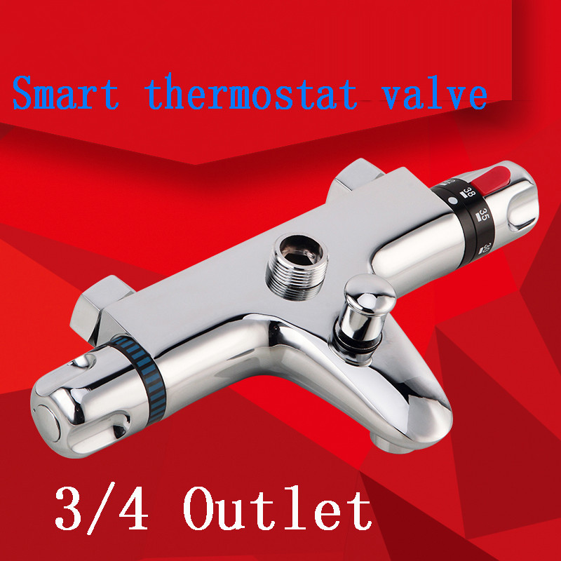 2015 Sale Limited Chrome Polished Shower Mixer All Copper For Thermostatic Bath Shower Faucet Bathroom Suite Valve Core Triple china sanitary ware chrome wall mount thermostatic water tap water saver thermostatic shower faucet