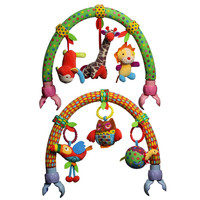 New Baby cribs Rattle babyplay Baby Hand Bell Multifunctional Plush Toy Stroller Mobile Gifts for 0 1 2 Years Old Infant