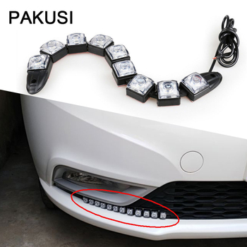 PAKUSI 1Set DRL fog lamp Bulb Car LED Day Lights 12V For Audi a3 a6 BMW e46 e90 F10 Renault duster cilo Lada granta accessories image