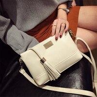 Nieuwe Kwasten Mini Flap Portemonnees en Handtassen PU Lederen Sling Bag Satchel Flap Clutch sac een Pochette Pouch Vrouw Bag Crossbody