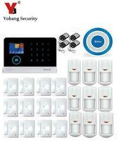 Yobang Güvenlik RFID 433 MHz Kablosuz 3G SMS Alarm Güvenlik Sistemi APP Kontrolü Kablosuz Mavi Siren GPRS WIFI Alarm kitleri