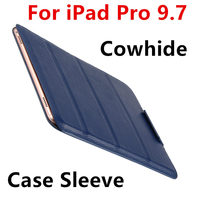 Case Cowhide Sleeve For IPad Pro 9 7 Tablet PC Protective Smart Cover Protector Genuine Leather