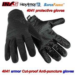 INXS 4041 Taglio a prova di Puntura-prova guanti tipo di Armatura di disegno Palma perline Dot guanti Militari Taglio puntura di smorzamento guanti